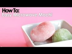 Simple and yummy mochi recipe! No steaming required... Just microwave for a total of 6 minutes! :D     You can of course add green tea powder to flavor it, and any other powder you wish.     Comment, rate, and subscribe!