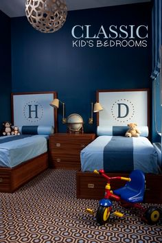 A collection of inspiring Classic Kid's Bedrooms on My Sweet Prints Blog