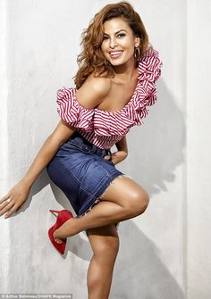 Fit mommy: Eva Mendes has taken the April cover of Shape magazine