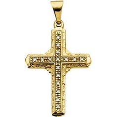 14kt Yellow Gold Cross Pendant | 2.8 Grams | Jewelry Series: R41078