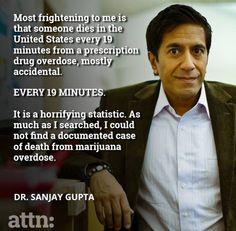 Drug overdoses - prescription vs marijuana