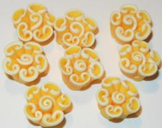 8 qty 15 mm Handmade Polymer Clay Flower yellow by jcraft4you