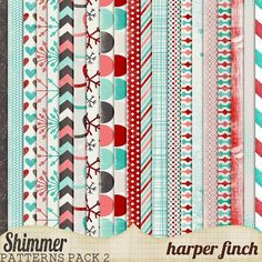 Harper Finch: Solid, Shimmery and Glittery! free papers: