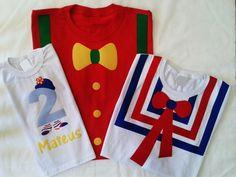 Kit Camisetas Patati Patatá