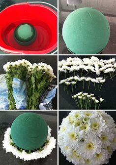 DIY Flower Balls - Maybe we can make these for the girlies..