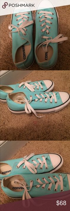 💄💄Tiffany blue converse Excellent condition and beautiful color! Converse Shoes Sneakers
