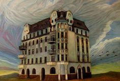 HAUNTED HOUSE | 93 x 63 cm | Acrylic and Oil Painting on Hardboard | by Krzysztof Polaczenko ® 2014