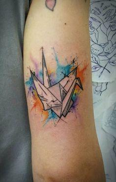 Watercolor and Post Modern Tattoo Tyago Compiani