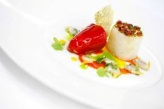 Cornish cod, red pepper and chorizo, parsley and cockle vinaigrette recipe by professional chef Gary Jones Gary Jones, Potato Puree, Cod Recipes, Cockles, Professional Chef, Roasted Peppers, Best Chef, Red Peppers
