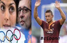 Il campione della Roma, Francesco Totti e i due sfidanti sindaci