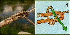 """ロープやヒモの端同士をつなげる結び方のひとつ。""""Sheet (Becket) Bend"""""""