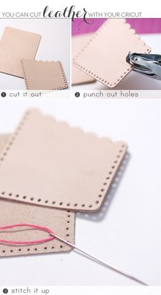 Recycled Leather Idea - DIY Stylish Gold & Leather Office Supplies with Cricut Explore | Damask Love