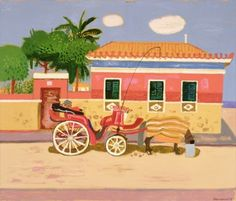 Siesta Gegina, 1998 (oil on canvas) by Leon Morrocco on The Bazaar