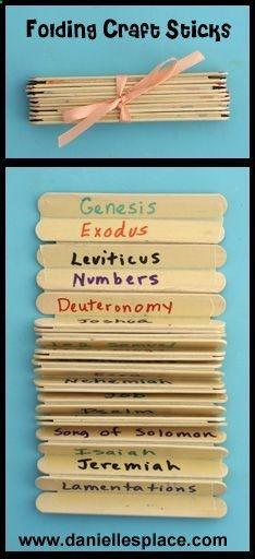 Folding Craft Stick - Books of the Bible