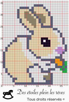 Pixel Art Lapin Trop Mignon