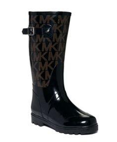 MICHAEL Michael Kors Shoes, MK Logo Rain Boots - Shoes - Macy's WANT!