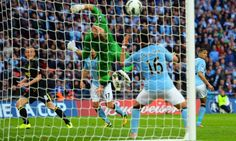 Ben Watson scores, Wigan Athletic beat Manchester City to win the 2013 FA Cup. Jim White, Wigan Athletic, Fa Cup Final, Old Trafford, Arsenal Fc, Manchester City, Football Team, Premier League, Finals