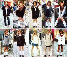 Kogals ~ style based on Japanese school uniforms