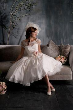 Wedding Magazine - The Daily Dress: March 2013  Retro style #wedding dress, short and flirty