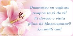 Felicitari de la multi ani - Dumnezeu sa vegheze asupra ta Birthday Messages, Happy Birthday Wishes, Birthday Message For Boyfriend, Permanent Makeup Eyebrows, Christian Quotes, Flowers, Motto, Diana, Encouragement