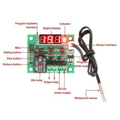 1.49$  Watch here - DC 12V W1209 Digital CoolHeat Temp Thermostat Thermometer Temperature Controller OnOff Switch -50-110C   #aliexpressideas