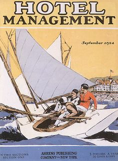 Hopper - Hotel Management, cover illustrations for magazine, 1924  Hopper wanted to be a painter – but his parents who were paying for his education had him get it in Commercial Design.