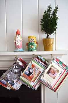 make a book every year from the Christmas cards you received