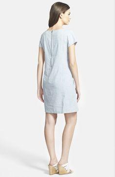 Eileen Fisher Stripe Chambray Shift Dress (Regular & Petite) | Nordstrom