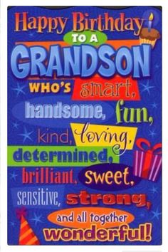 Best birthday wishes quotes cards happy 61 Ideas Grandson Birthday Quotes, Birthday Quotes Funny For Him, Happy Birthday Wishes For Her, Birthday Card Sayings, Birthday Wishes Quotes, Birthday Messages, Birthday Greetings, Funny Birthday, Grandson Quotes