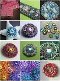 Shisha embroidery, a patch,a brooch,an ornament,whatever! I LOVE Shisha Embrodiery