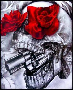 Rose/skull