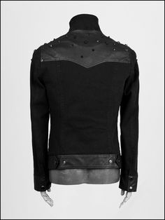 "Manteau Veste Punk Rave ""Black"""