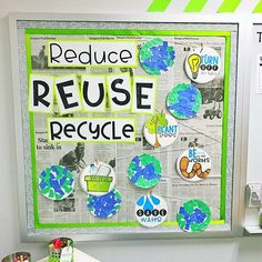 An earth day bulletin board made out of recyclable materials 🙂 You are in the right place about my ideas board Here we offer you … College Bulletin Boards, Science Bulletin Boards, Classroom Bulletin Boards, Classroom Activities, Classroom Decor, April Bulletin Board Ideas, Science Boards, Class Activities, Science Classroom