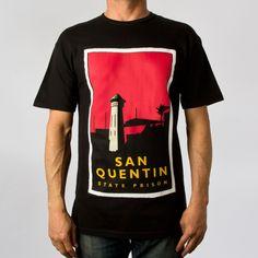 Upper Playground - San Quentin Tee in Black
