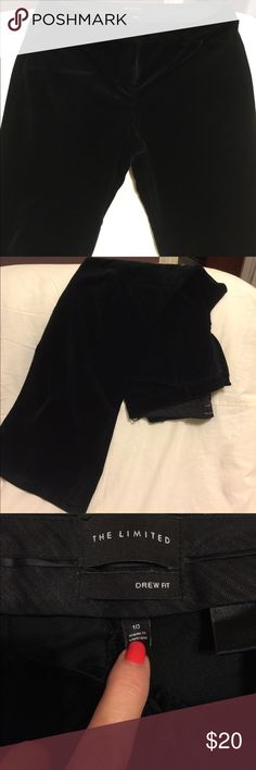 The Limited Black Velvet Trousers Size 10 NWOT $14 The Limited Black Velvet Dressy Trousers Size 10 Like New $12 The Limited Pants Trousers