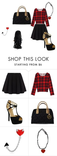 Cute time by aaliyah-kershaw on Polyvore featuring WithChic, Polo Ralph Lauren, Red Circle, Michael Kors and Bling Jewelry