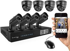 Amcrest FullHD 1080P 8CH Video Security System  Eight 1920TVL 21Megapixel Weatherproof IP67 Dome and Bullet Cameras 65ft IR LED Night Vision 3TB HDD HD Over AnalogBNC Smartphone View Black -- Find out more about the great product at the image link.Note:It is affiliate link to Amazon.
