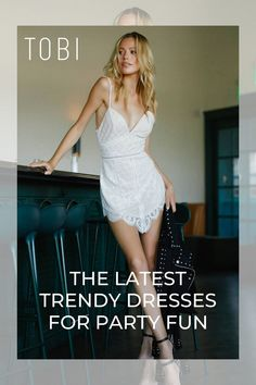 Find all the latest and greatest affordable party dresses and party outfits for clubbing, dancing your heart out, bar-hopping, and kickin' it with your best friends. Cute Dresses For Party, Trendy Dresses, Women's Fashion Dresses, Casual Dresses, Sundresses Women, Club Outfits, Party Outfits, Holiday Party Outfit, Night Out Outfit