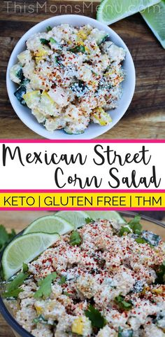 Mexican street corn is one of my favorite summer time side dishes. I have missed it SO much that I had to come up with a low carb version. The result is seriously delicious! This Mexican Street Corn Salad makes a great side to your favorite Mexican foods and works with most of the typical cookout fare. #keto #lowcarb #lowcarbsidedishes #ketorecipes Mexican Side Dishes, Low Carb Side Dishes, Side Dish Recipes, Cookout Side Dishes, Cookout Food, Mexican Food Recipes, Healthy Recipes, Keto Recipes, Grill Recipes