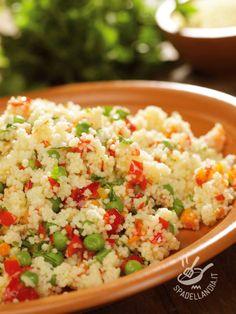 Couscous With Vegetables - Potete servire il vostro Couscous delicato con verdurine saltate in occasione di un buffet o un apericena: guarnitelo con ciuffetti di menta!