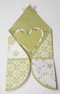 Cartão Envelope Romântico de Coração – Passo a Passo