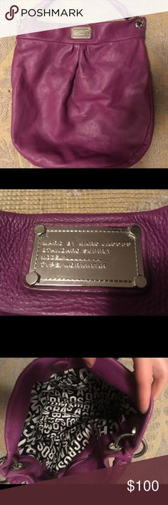 Marc Jacobs Classic Purple Leather Hobo Purse Gently used premium leather  Marc Jacobs handbag. Marc 394525d8a61