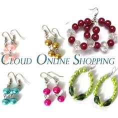 """""""Deal 307"""" 4 Pair of pearl Earring with 2 pair of Baali Price Rs:599"""