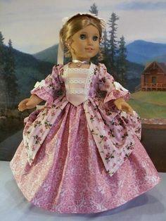Williamsburg Rose Cottage Set Panniers Fits American Girl Elizabeth Felicity   eBay
