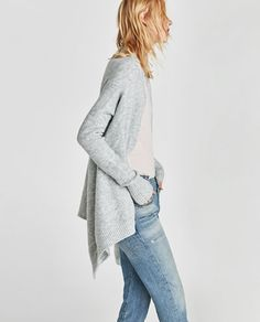 SOFT-FEEL POINTED CARDIGAN-Cardigans-KNITWEAR-WOMAN | ZARA Finland