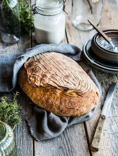 Recept på surdeg + Galet gott surdegsbröd - Landleys Kök Bread N Butter, Salmon Burgers, Bread Recipes, Camembert Cheese, Breakfast, Ethnic Recipes, Food, Life, Inspiration