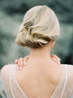 chic bridal updo - photo by Sawyer Baird Photography http://ruffledblog.com/northern-california-beach-elopement