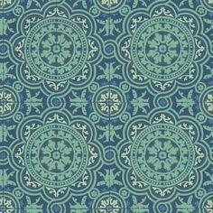 Un papier peint petits triangles vert turquoise bleu - Au fil des couleurs pour des papiers peints tendance ...