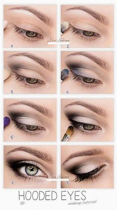 Best Eyeshadow Tutorials - Hooded Eyes - Easy Step by Step How To For Eye Shadow - Cool Makeup Tricks and Eye Makeup Tutorial With Instructions - Quick Ways to Do Smoky Eye, Natural Makeup, Looks for Day and Evening, Brown and Blue Eyes - Cool Ideas for B Eye Makeup Tips, Smokey Eye Makeup, Beauty Makeup, Makeup Tricks, Makeup Ideas, Diy Makeup, How To Do Makeup, Makeup Tools, Clown Makeup