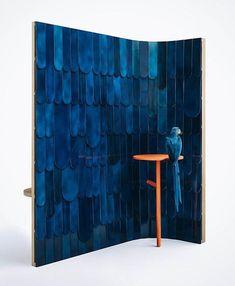 Une deco bleu nuit : Paravent Ara, Grégoire de Lafforest et Mireille Herbst. 4 | AD Magazine